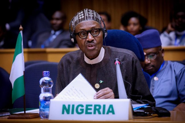 Buhari, Obasanjo All Smiles In Addis Ababa