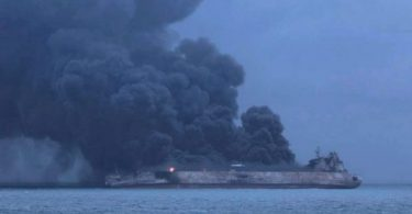 Rescuers recover 2 bodies from burning oil tanker off China's coast