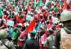 NLC defies El'Rufai, Police threats, storms Govt House over sack of 36,000 workers