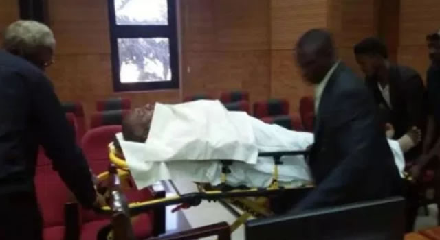 Metuh in court on a stretcher, judge adjourns trial till March 14