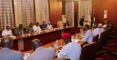 INSECURITY: Buhari, Osinbajo, security chiefs, meet behind closed door