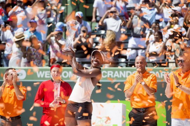 Stephens defeats Ostapenko to claim Miami crown