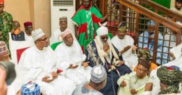 PHOTOSCENE: Buhari, Saraki, govs storm Kano for wedding of Ganduje, Ajimobi
