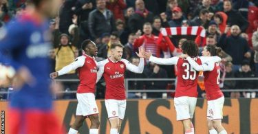 ​EUROPA: Iwobi's Arsenal survive Musa's CSKA scare to reach semis; Salzburg, Atletico advance