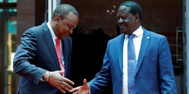 Surprise handshake between bitter rivals Uhuru & Odinga stirs up Kenyan politics