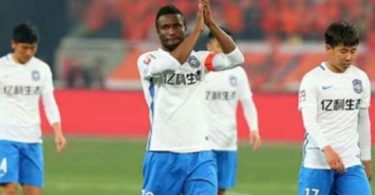 Mikel celebrates first goal of the season