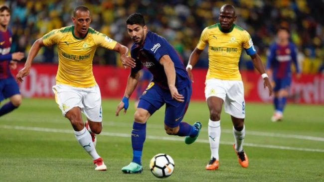Razak Brimah's Mamelodi Sundowns To Host Barcelona In a Friendly Today