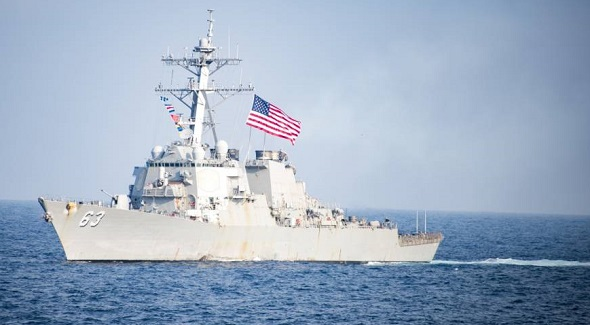 United States sends warships near disputed island in South China Sea