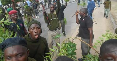 Mobile policemen protest over unpaid salaries in Maiduguri