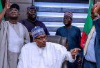 PHOTOSCENE: Buhari tours re-election campaign office