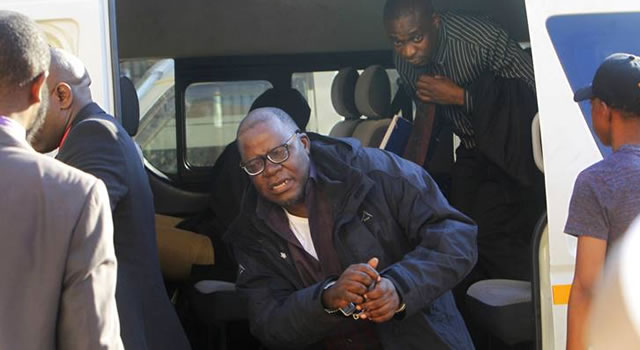 Zimbabwe parades handcuffed opposition leader in court