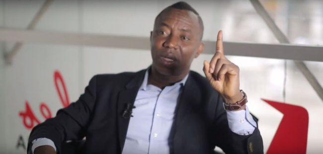 Image result for I won't run a govt of body language – Sowore