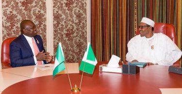 LAGOS GUBER: Ambode lobbies on, briefs Buhari behind closed doors