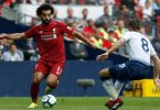 Mohamed salah in liverpool vs Tottenham