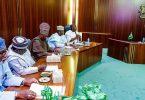 PHOTOSCENE: Buhari meets APC govs over primaries