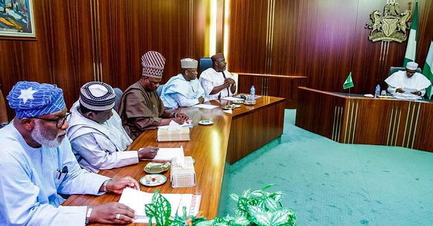 PHOTOSCENE: Buhari meets APC govs over primaries