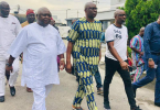 PHOTOSCENE: Fayose meets bail conditions, leaves EFCC custody