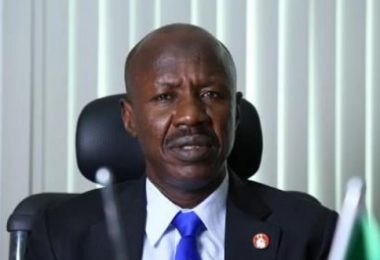 'Next question please', EFCC chair Magu refuses to comment on Ganduje's alleged bribe videos