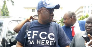 Fayose arrives EFCC office, wants Buhari's men accused of graft to do same