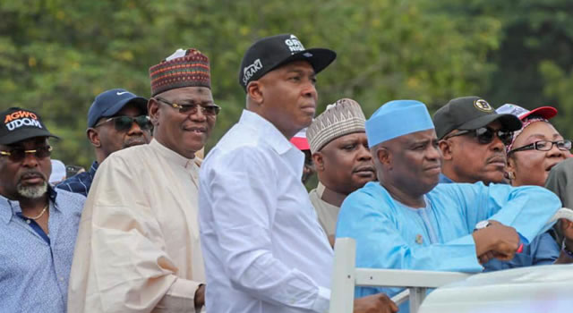 OSUN: Saraki, Tambuwal, Dogara, Lamido storm INEC in protest