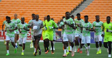Super Eagles with Ikechukwu Ezenwa