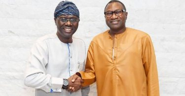 LAGOS GUBER: Otedola ends speculation about own interest, endorses Sanwo-Olu