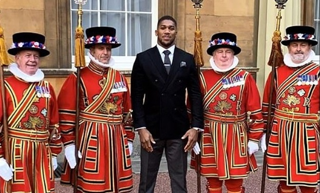 Anthony Joshua Receives OBE Award at Buckingham Palace