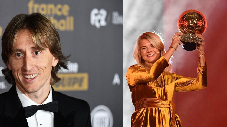 Luka Modric and Ada Hegerberg