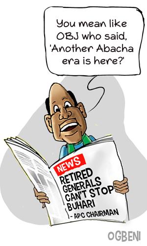 OGBENI Retired generals can't stop Buhari- APC chairman