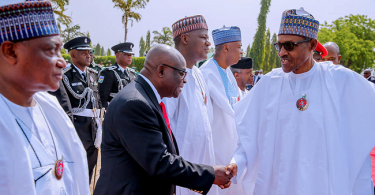 Embattled Onnoghen joins Buhari, Osibanjo at 2019 Armed Forces Remembrance day