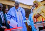 Buhari casts his vote, says he'll congratulate himself