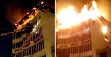 INDIA: 17 people feared killed as fire engulfs hotel in Delhi