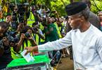 Osinbajo wishes for peaceful, successful poll after voting with wife