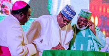 ELECTIONS: Buhari, Atiku, others sign second peace accord