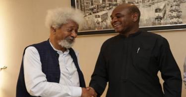 BREAKING: Wole Soyinka endorses Kingsley Moghalu for President