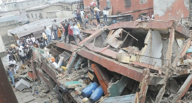 3-story building collapses in Nigeria with children inside