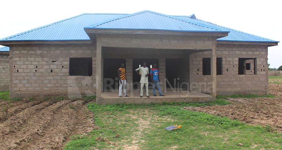 The abandoned primary health care centre in Rumo community