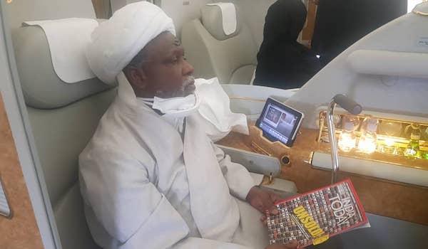 El-Zakzaky on plane