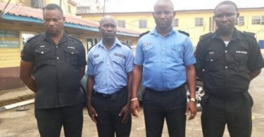 Police dismisses four officers