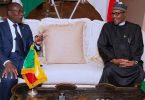 President Muhammadu Buhari with President Patrice Talon