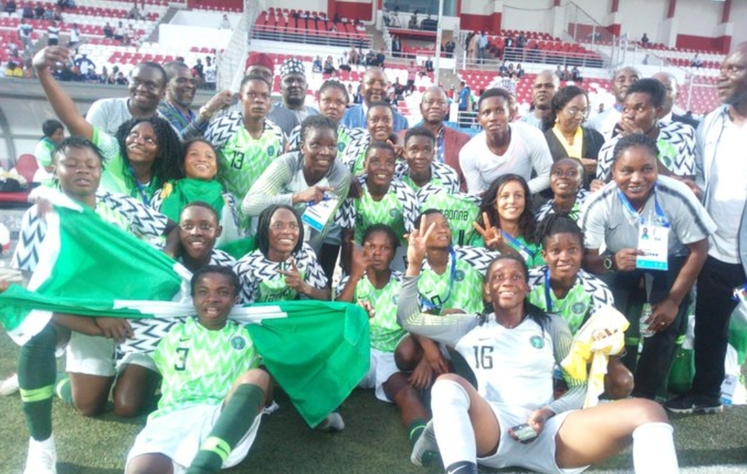 Image result for images of  Falconets beat Cameroon on penalties to win gold at 12th African Games