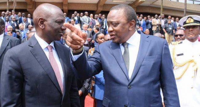 President Uhuru Kenyatta and his Deputy President William Ruto