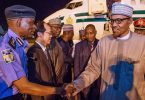 Buhari returns to Abuja from Japan