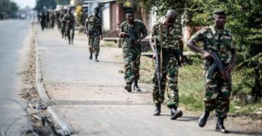 Heavily armed security forces in Burundi
