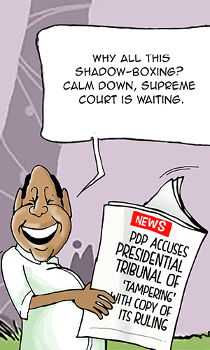 PDP accuses presidential tribunal of 'tampering' with copy of its ruling, delaying S'Court appeal