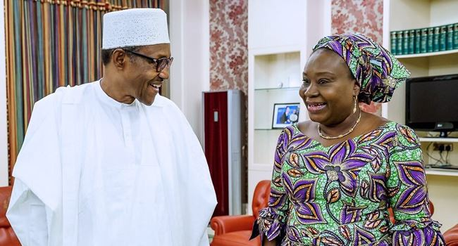 Acting HCSF, Yemi-Esan holds first meeting with Buhari after appointment