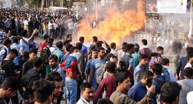 Police, Protesters clash as demonstrations spread across India over citizenship law