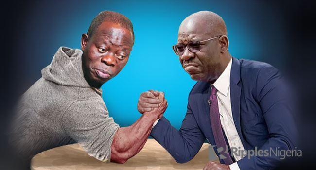 EDO: Again, Oshiomhole, Obaseki groups set to clash over planned reception for Ize-Iyamu