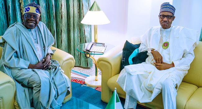Tinubu visits Buhari at Presidential Villa