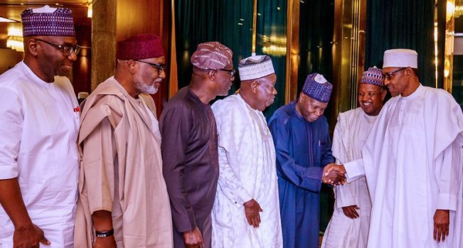 Buhari in meeting with APC governors